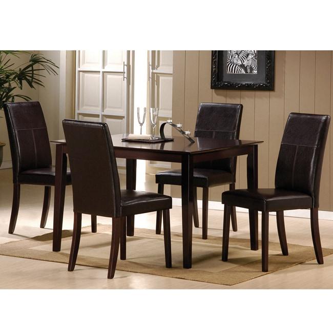 Jaspel Dark Wenge Finish Dining Chair (Set of 2)