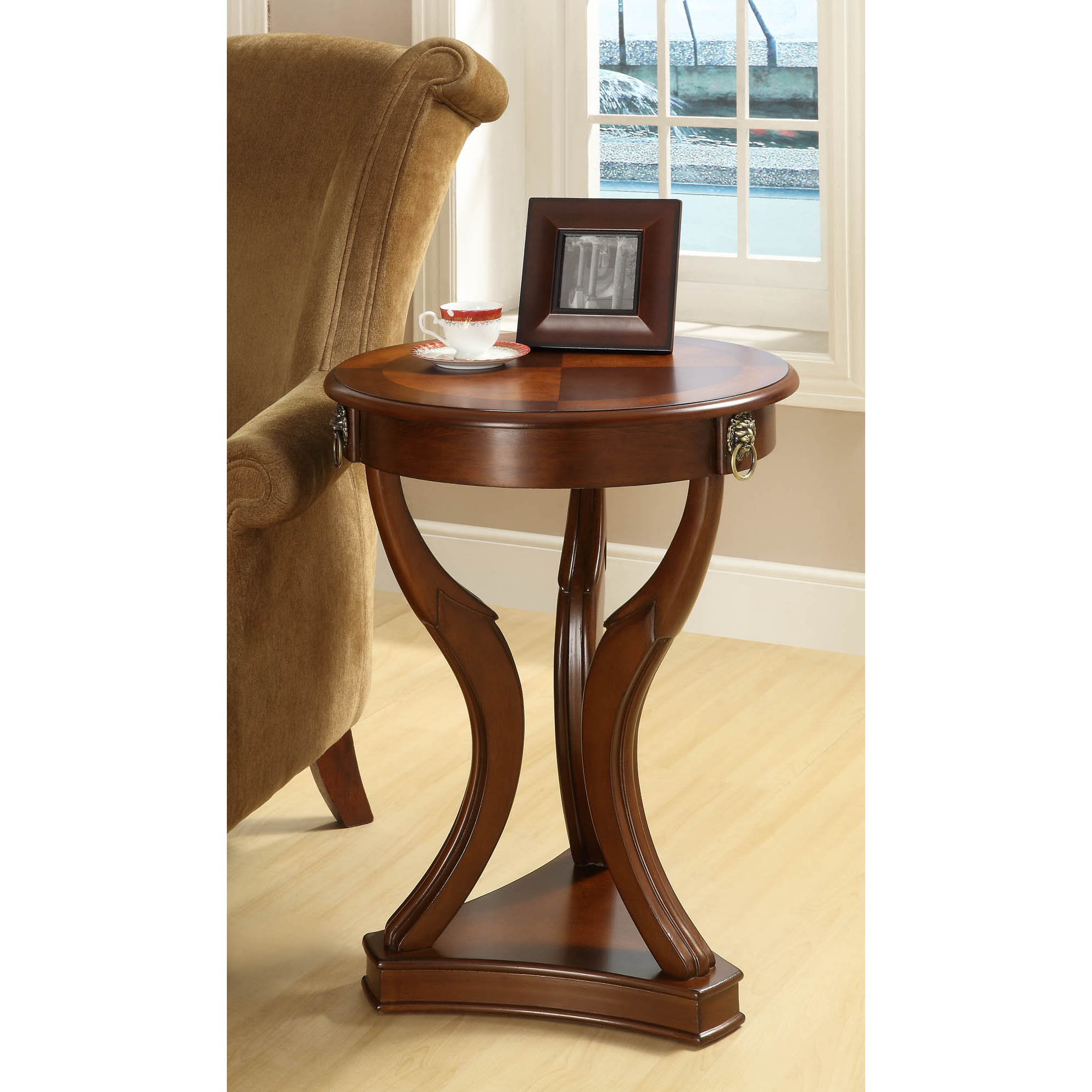 Medium Brown Birch Veneer 20-inch Accent Table
