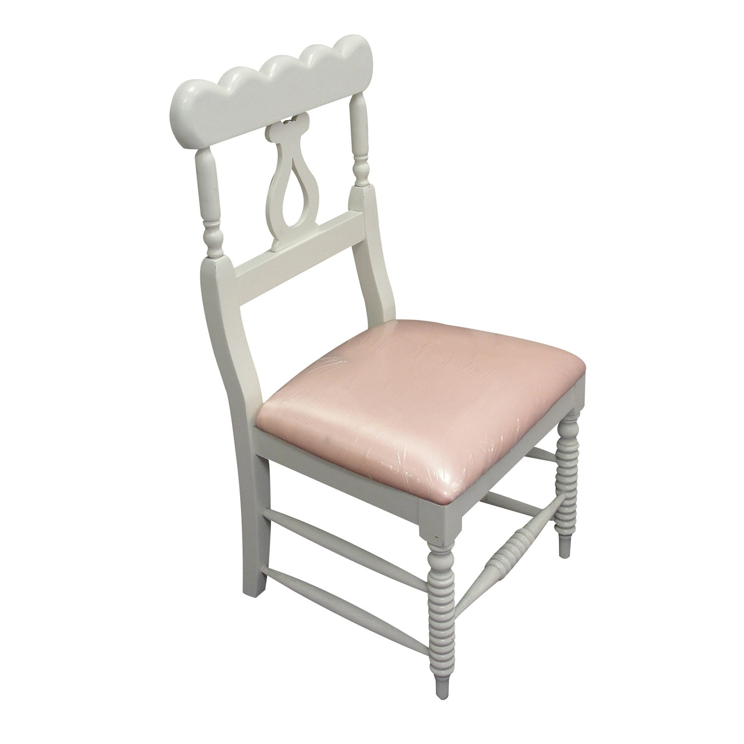 Cream and Peach Crowley Chair
