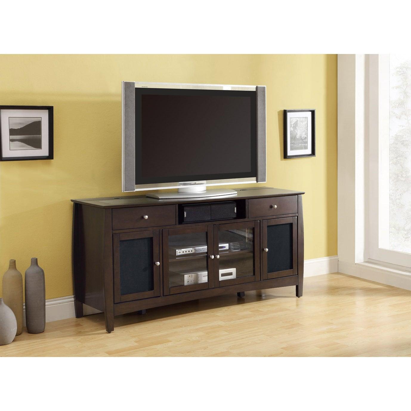 Dark Walnut Veneer Connect-it 64-inch TV Console