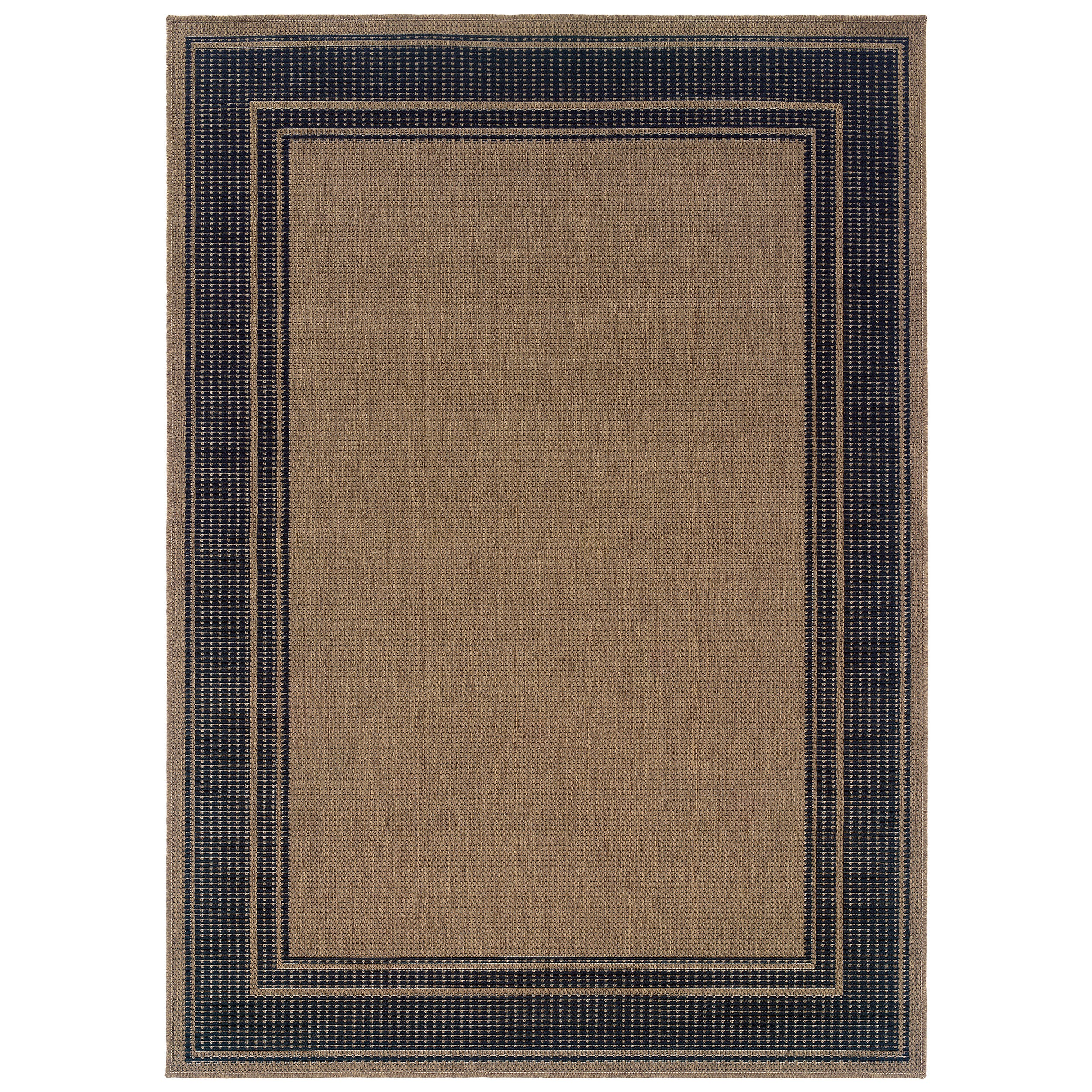 8x10 Indoor Outdoor Area Rugs: Indoor & Tan/ Black Outdoor Area Rug (8' X 10')