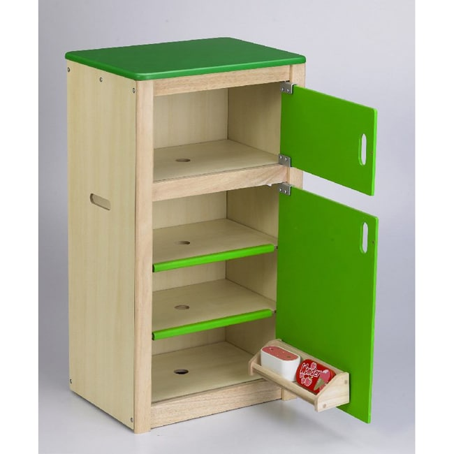 Wonderworld Toys Neo 2-Door Green Refrigerator with Temperature gauge