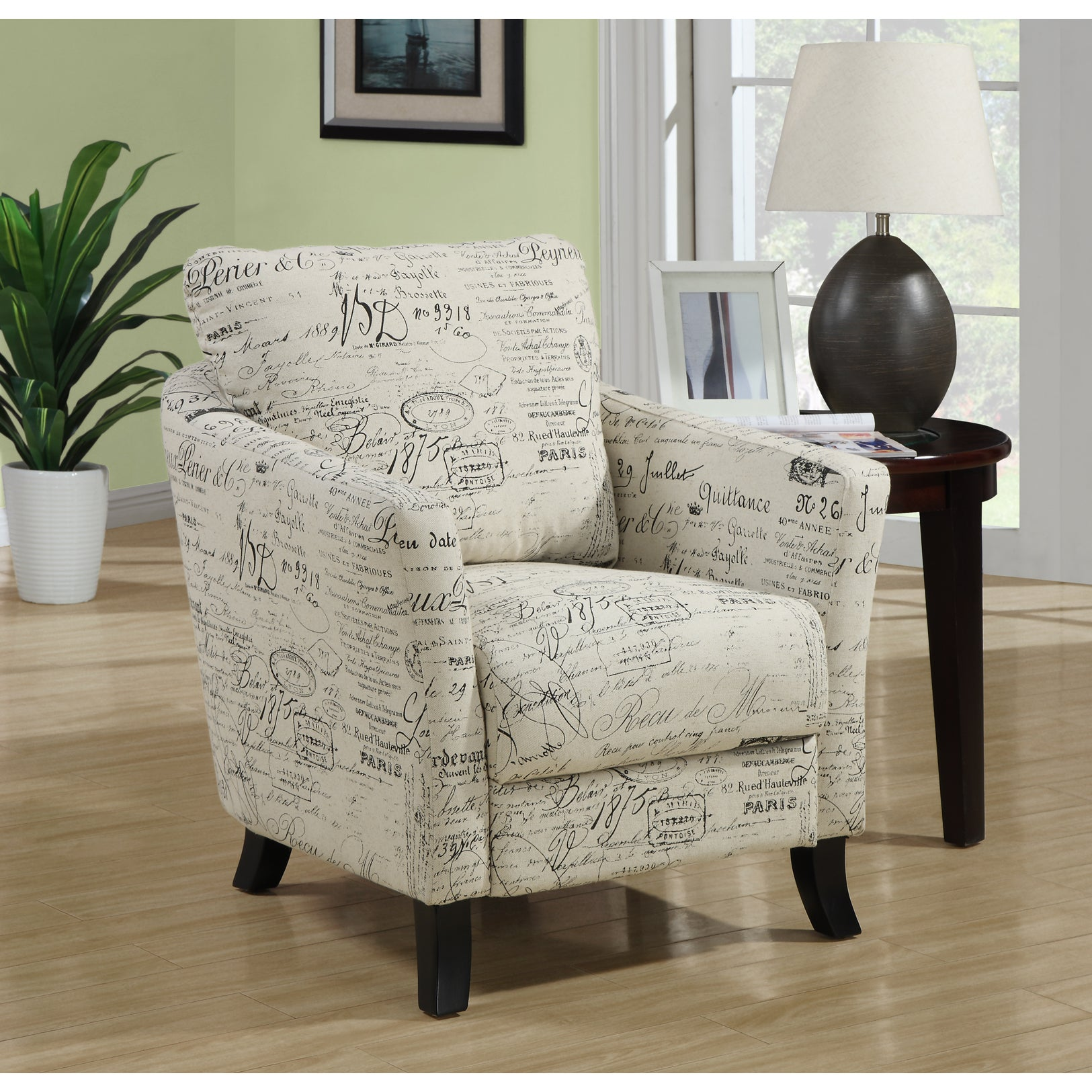 Shop Vintage French Fabric Accent Chair Free Shipping