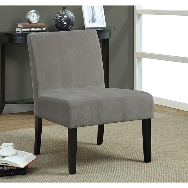 Taupe Swirl Velvet Accent Chair