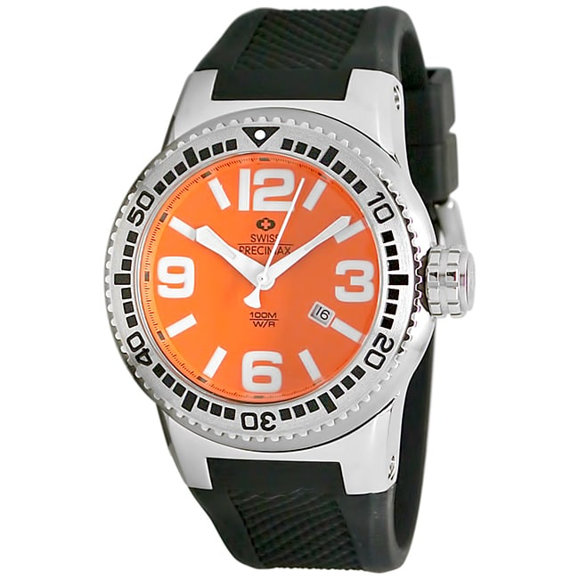 Swiss Precimax Men's Titan Orange Dial Watch