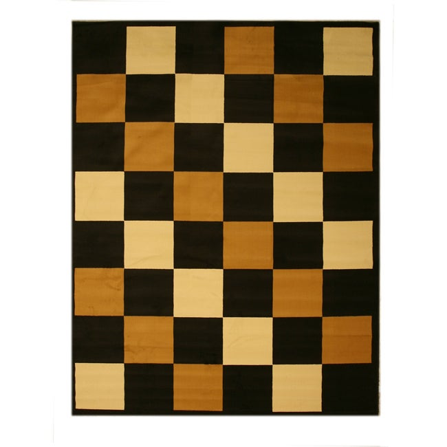 Pat BoxesGeometric Black Rug (4'9 x 6'6)