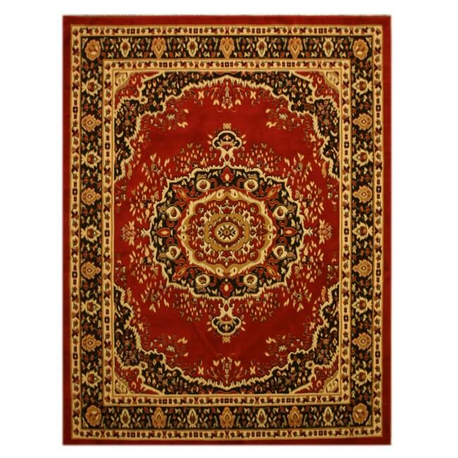 Pat Medallion Oriental Red Rug (3'3 x 4'6)
