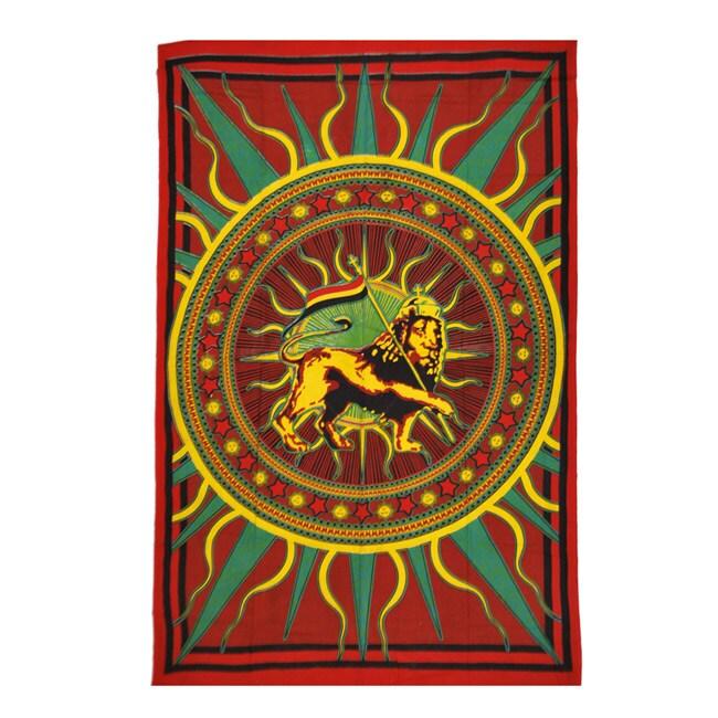 Jah Lion Print Tapestry (India)
