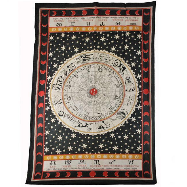 Zodiac Print Tapestry (India) - Thumbnail 0