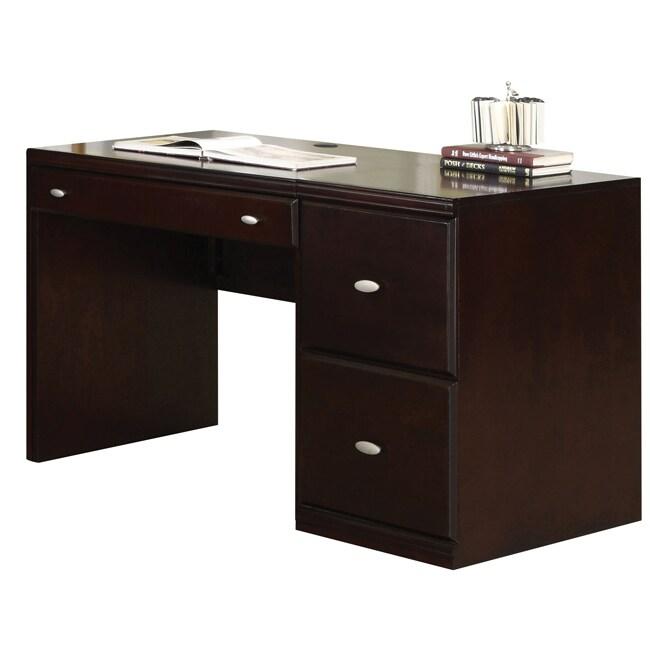 cape espresso computer desk with file cabinet free shipping today 14353475. Black Bedroom Furniture Sets. Home Design Ideas