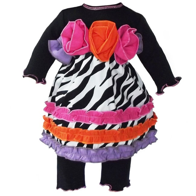 AnnLoren 2 piece Zebra and Roses Outfit fits American Girl Doll