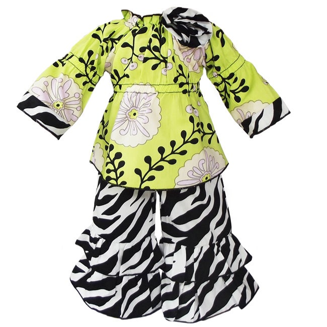 AnnLoren 2-piece Flowering Vine & Zebra Outfit fits American Girl Doll