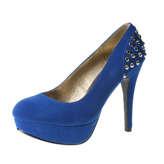 Story by Beston Women's CLAIRE-01 Platform High Stiletto Heels - Blue