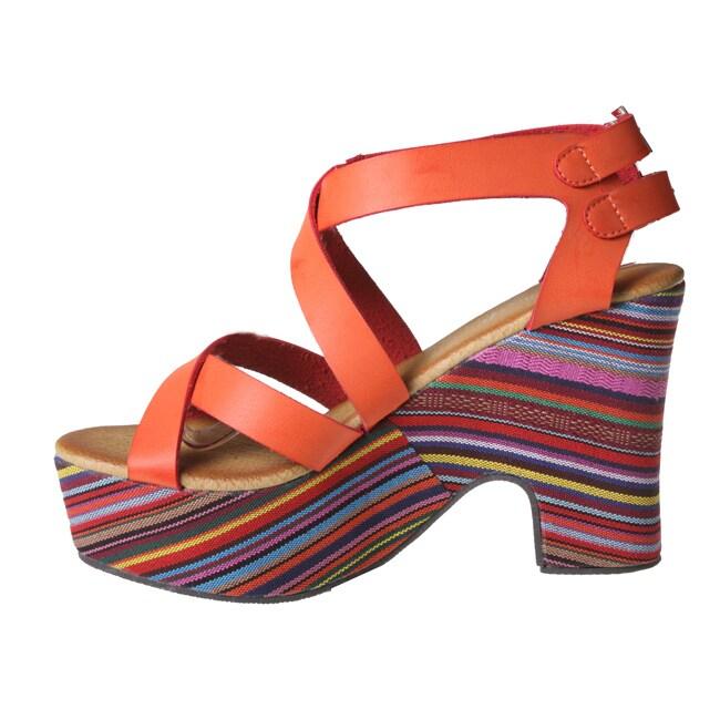 Refresh by Beston Women's DORIS-01 Chunky Heel Platform Sandals