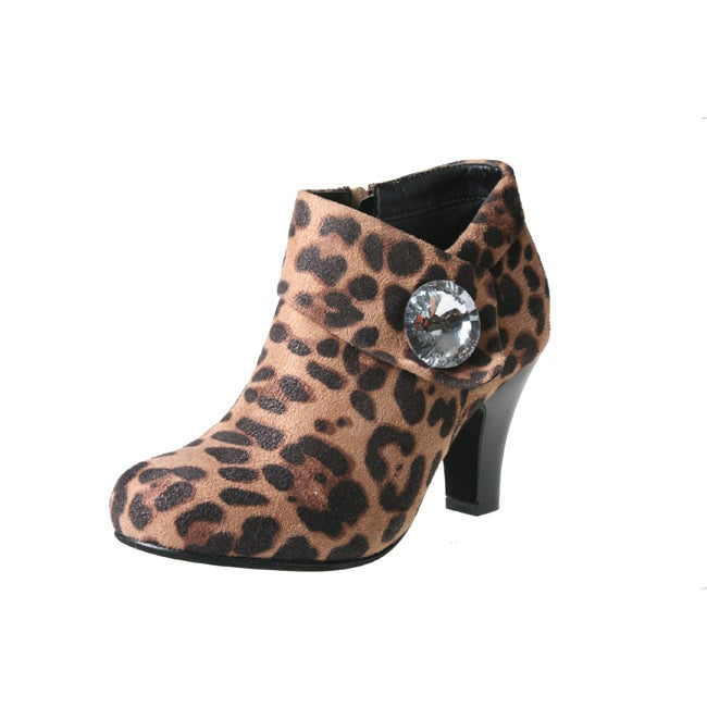 Story Women's NOVAE-02 Suede Ankle Rhinestone Embellished Bootie