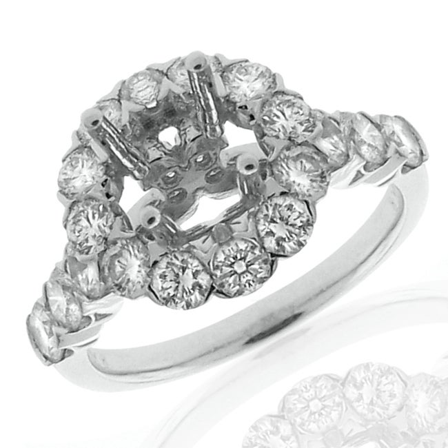 14k White Gold 1 2/5ct TDW Diamond Semi-mount Engagement Ring (G-H, SI1/SI2) - Thumbnail 0