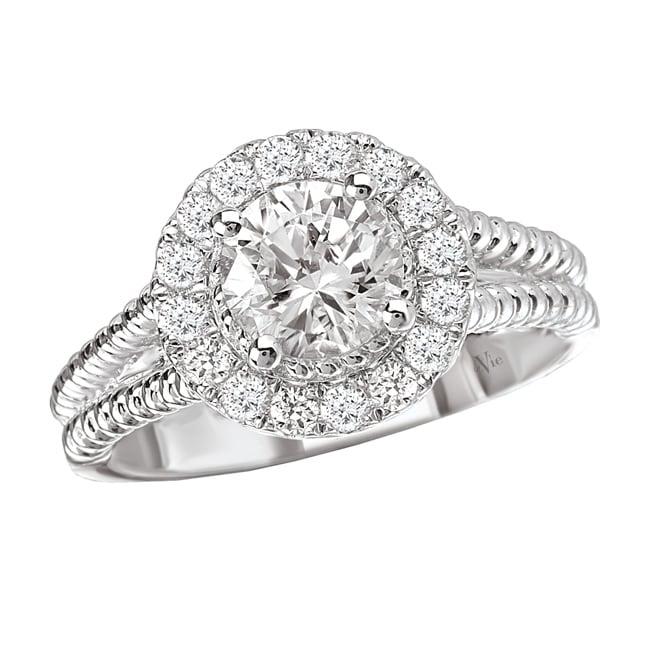 Avanti 14k White Gold 1/3ct TDW Diamond Semi-mount Engagement Ring (G-H, SI1-SI2)