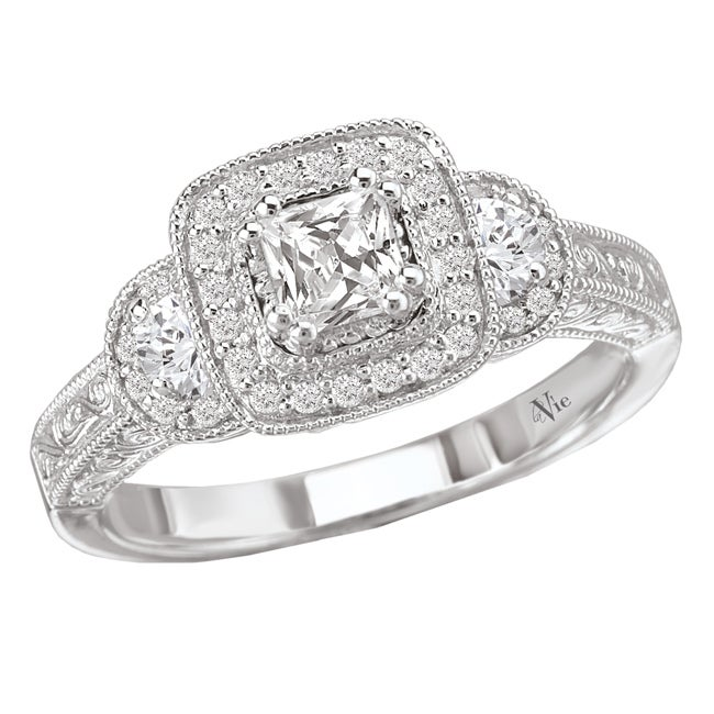 Avanti 14k White Gold 5/8ct TDW Diamond Engagement Ring (G/H, SI1-SI2)