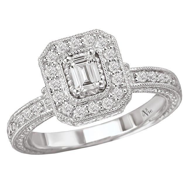 Avanti 14k White Gold 5/8ct TDW Diamond Engagement Ring (G/H, SI1-SI2)