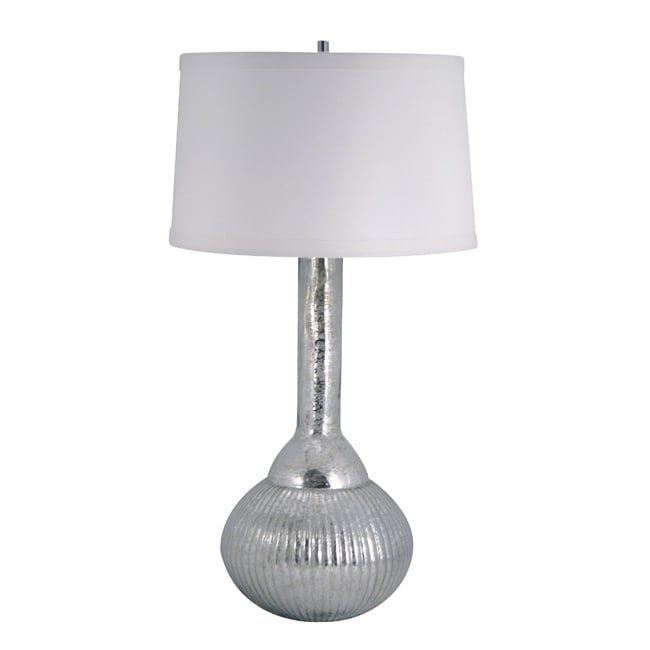 Silver Fluted Mercury Glass Lamp