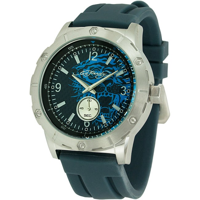 Ed Hardy Men's Matrix Blue Watch