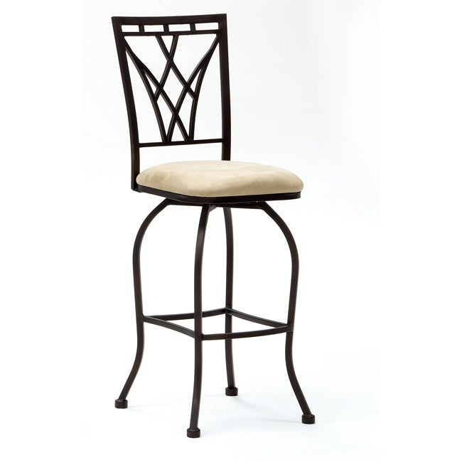 Metal Finish Copper/ Micro Fiber Leather Barstool