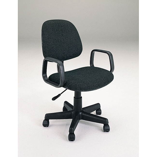 Mandy Pneumatic Lift Black Fabric Office Chair