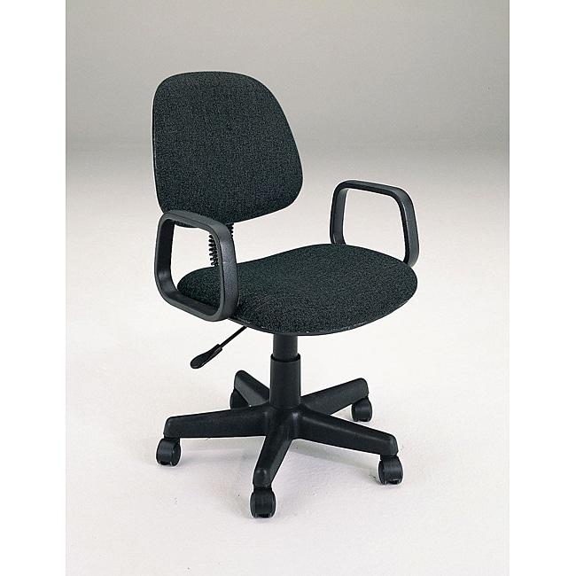Mandy Pneumatic Lift Black Fabric Office Chair