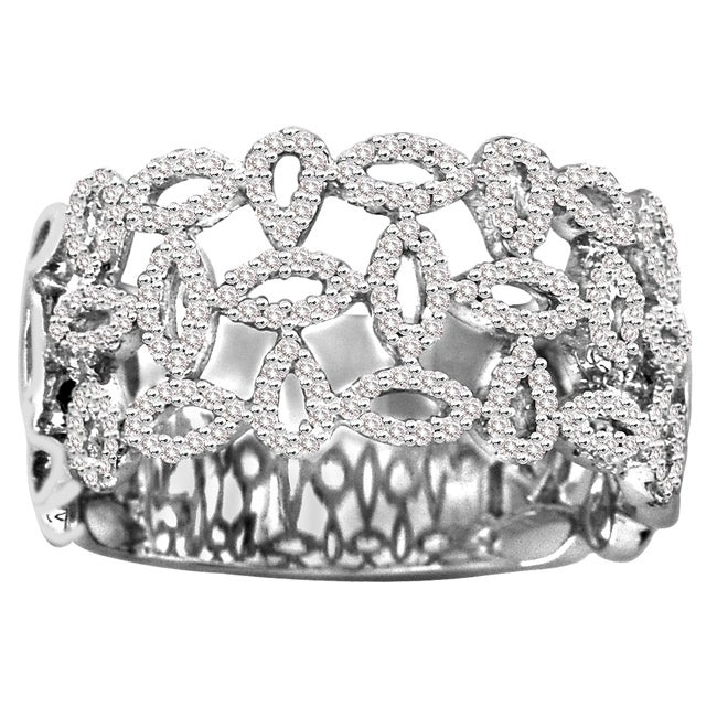 14k White Gold 3/5ct TDW White Diamond Cocktail Ring (H-I, I1-I2)