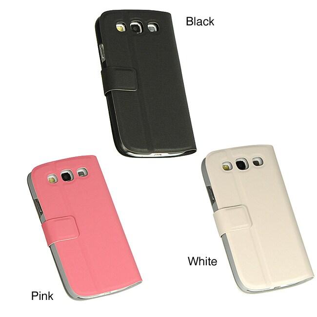 Premium Samsung Galaxy S III/ S3 PU Leather Case