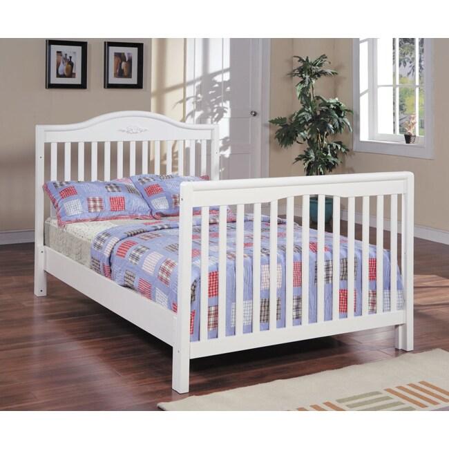 Full-size Slats and Rails for White Crib Conversion Kit