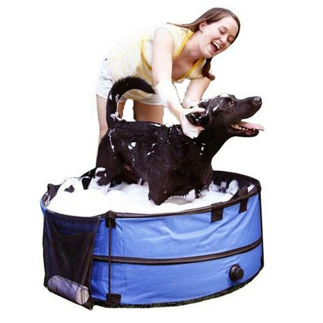 Portable Collapsible Pet Bath Tub with Carry Case
