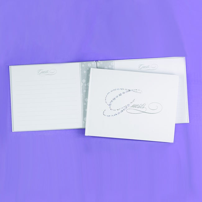 Sparkling Silver Guest Book