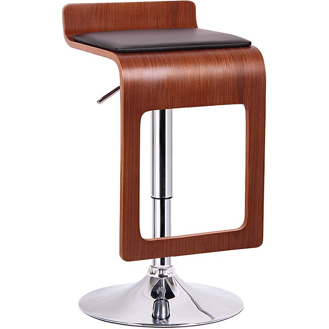 Murl Walnut And Black Modern Bar Stool Set Of 2 Free