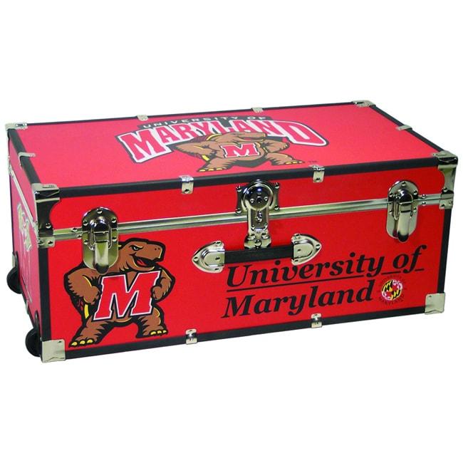 University of Maryland 30-inch Wheeled Foot Locker Trunk