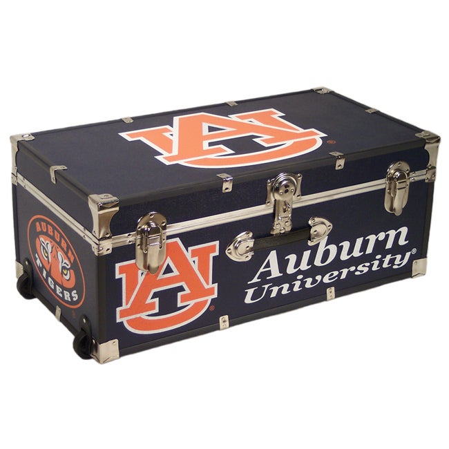 Auburn University 30-inch Wheeled Foot Locker Trunk - Thumbnail 0