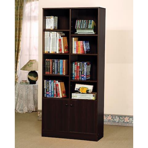 Verden Book Espresso Finish Shelf Cabinet