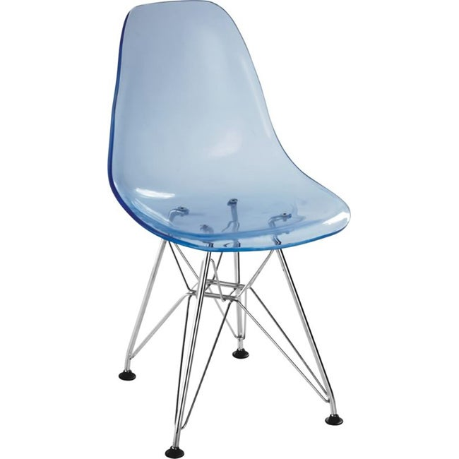 Shop Baby Spire Transparent Blue Chair Free Shipping