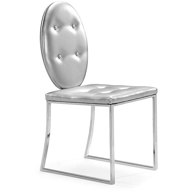 Goth Silver Dining Chairs (Set of 2)
