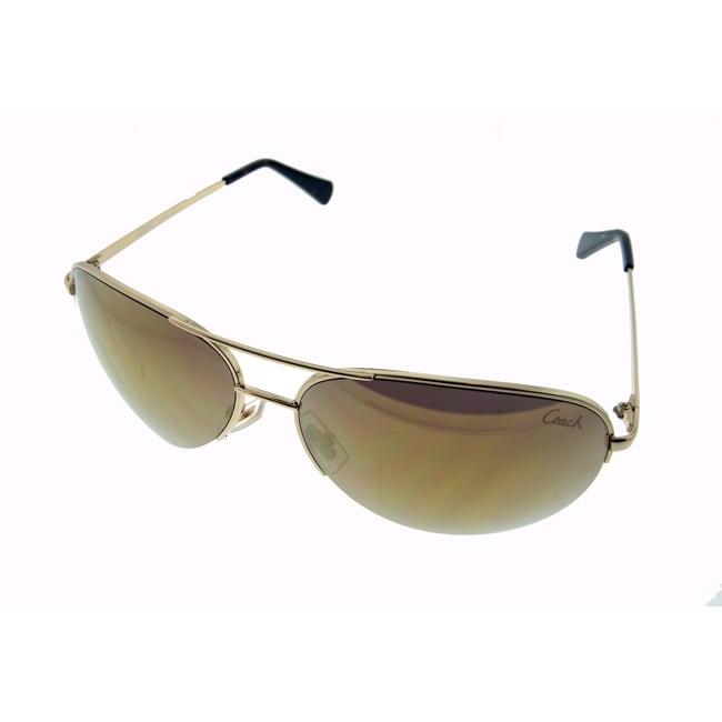 Coach Women's Aviator Sunglasses in Gold