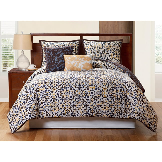 VCNY Sahara Reversible 5-piece Duvet Cover Set