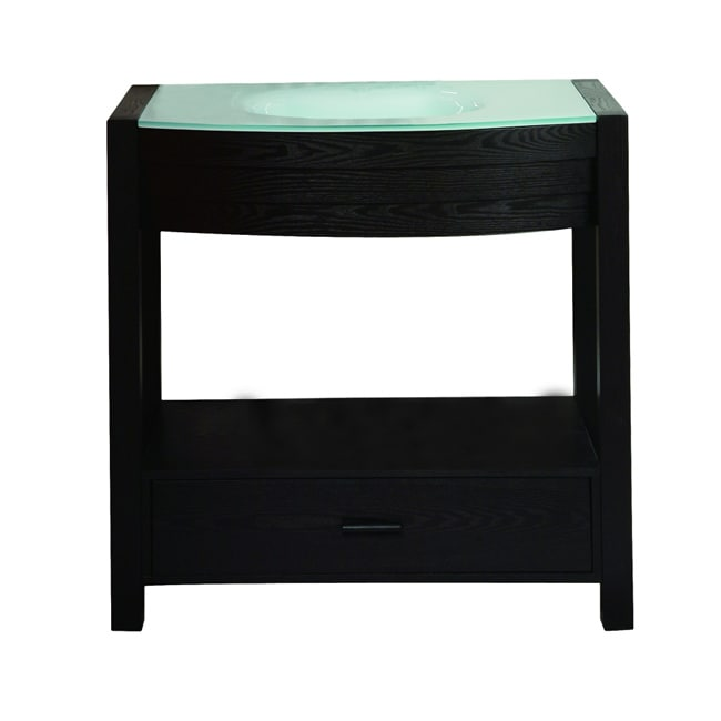 Deco Lav Espresso Finish Vanity with Curved Front
