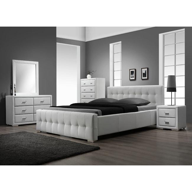 Sierra White King-size 5-piece Bedroom Set