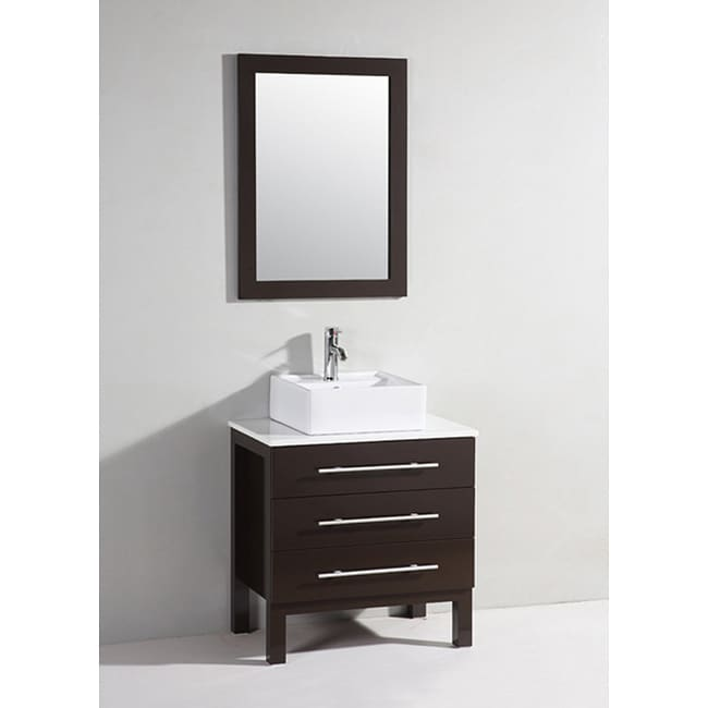 Dark Chocolate 28 in. Bathroom Vanity