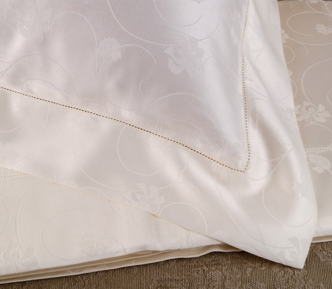 Frette Taormina Fiore Ivory 600 Thread Count King-size Sheet Set