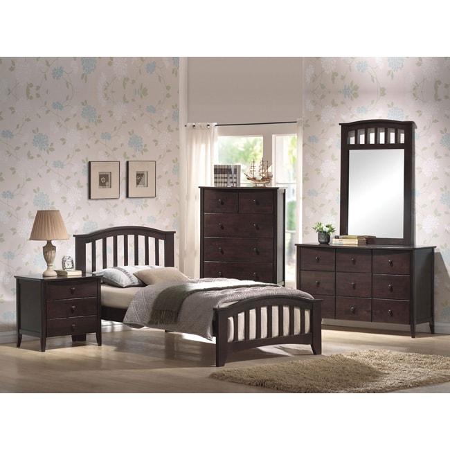 Dark Walnut Twin Bed Frame