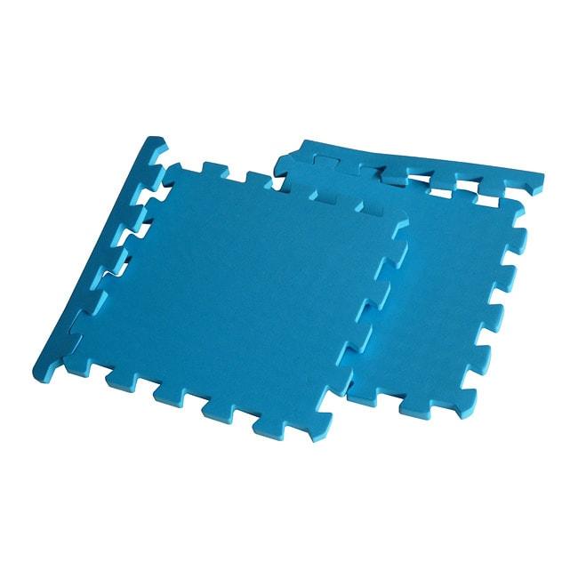 TNT Blue Foam Exercise Gym Floor Mats Set (Case of 96)