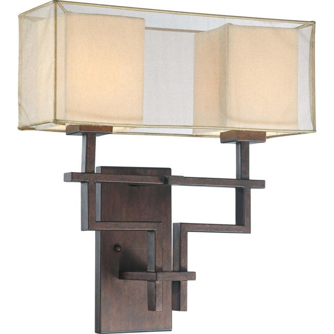 Melanie 2 Light Corvo Bronze Wall Sconce