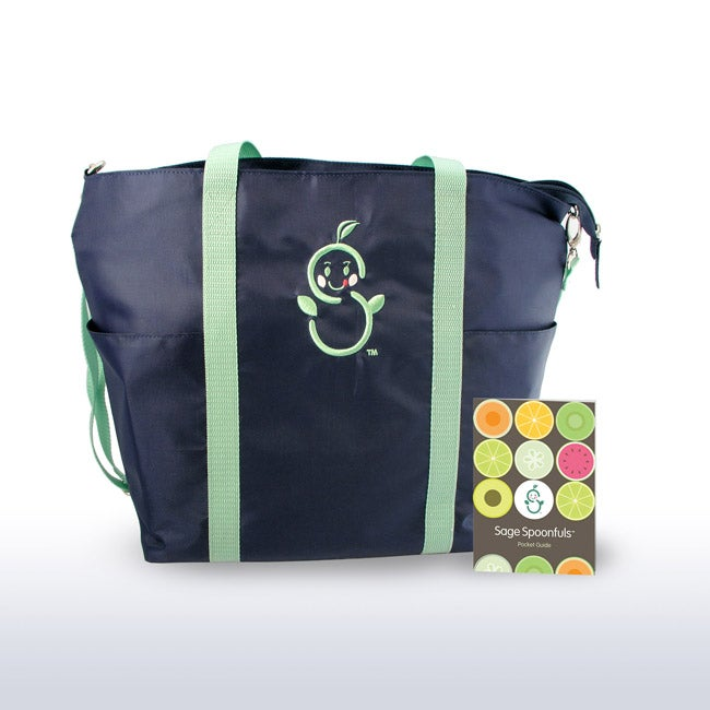 Sage Spoonfuls Sage Mommy Tote with Pocket Guide