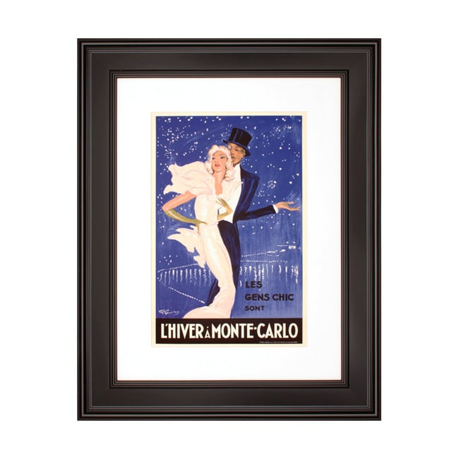 'L'hiver A Monte-Carlo' Framed Print Art